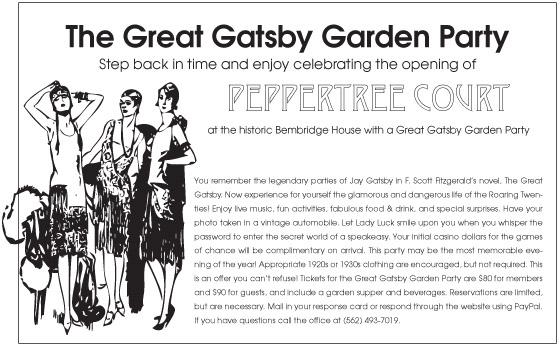 Pepper Tree Court Garden Gatsby Party