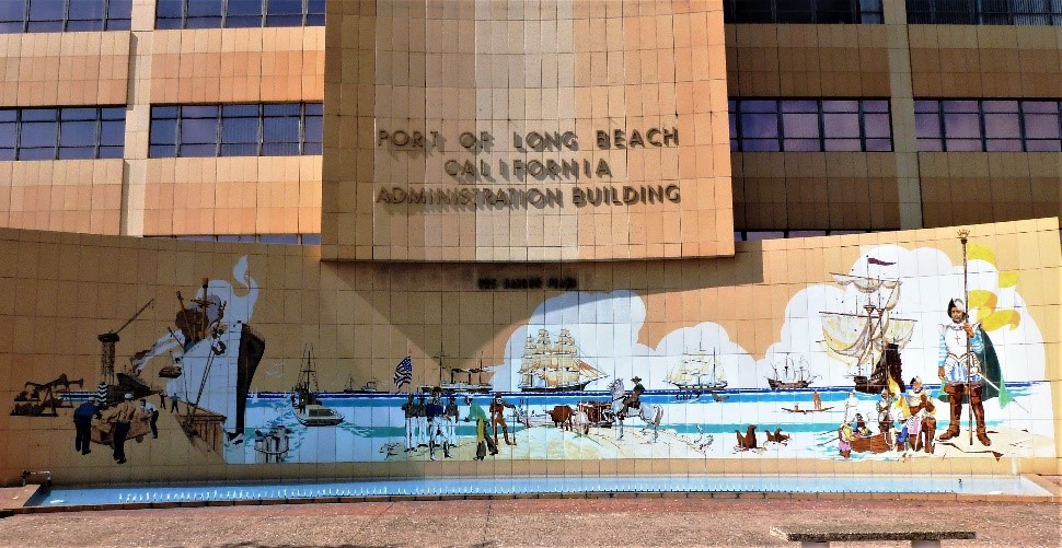 port of long beach mural