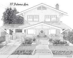 Drawing of 117 Paloma
