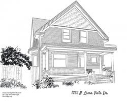 Drawing of 1255 North Loma Vista