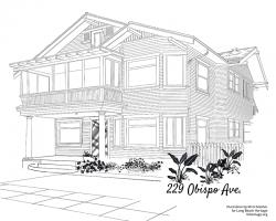 Drawing of 229 Obispo