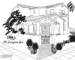 Drawing of 251 Junipero