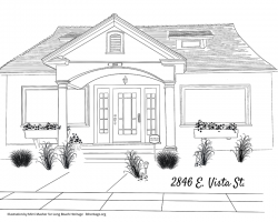 Drawing of 2846 East Vista