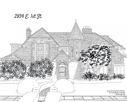 Drawing of 2934 East First Street