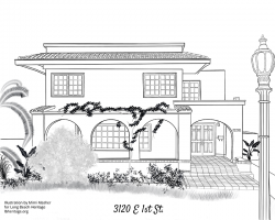 Drawing of 3120 East First Street