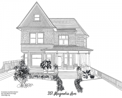 Drawing of 351 Magnolia