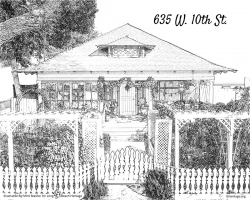 Drawing of 635 W 10th